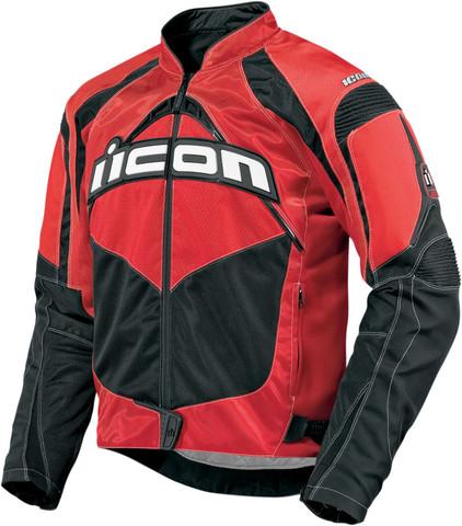 Мотокуртка - ICON CONTRA (текстиль, красная)