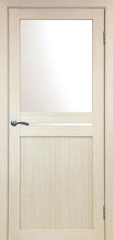 > Экошпон Optima Porte Турин 520.221, стекло матовое, цвет беленый дуб, остекленная