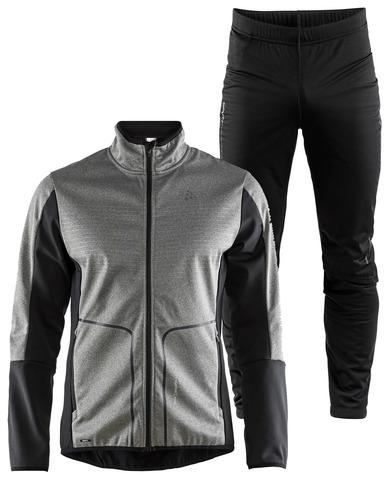 Элитный лыжный костюм Craft Sharp Softshell XC Storm Grey мужской