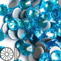 Стразы горячей фиксации клеевые стеклянные термостразы Aquamarine Аквамарин бирюзовый на StrazOK.ru