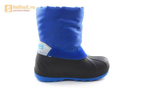 Зимние сапоги для мальчиков непромокаемые с резиновой галошей Фиксики, цвет синий, Water Resistant. Изображение 4 из 17.