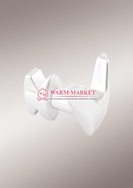 Крючок v-образный для полотенцесушителей и радиаторов белого цвета