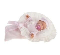Munecas Antonio Juan Кукла Ланита в розовом, плач., 27 см (1110P)