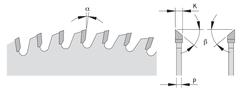 Пильный диск СМТ для МДФ и ДСП 250x30x3,2/2,2 -2є 40° Hi ATB Z=80