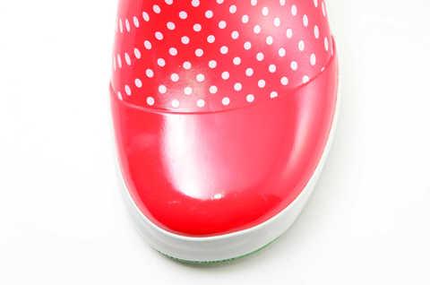 Резиновые сапоги для девочек утепленные Хелло Китти (Hello Kitty), цвет красный. Изображение 10 из 11.