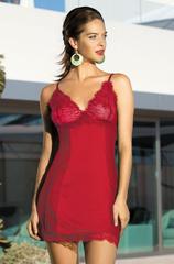 Сорочка женская с кружевом  MIA-MIA ЭЛЕГАНС Леди в красном 12021