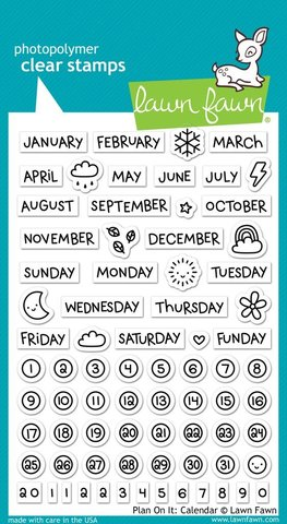 """Набор штампов """"fplan on it: calendar"""""""