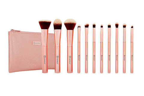 Набор кистей в косметичке Metal Rose – 11 Piece Brush Set With Cosmetic Bag BH Cosmetics
