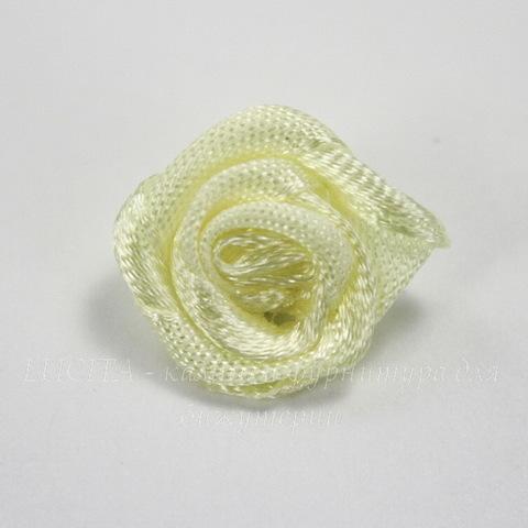 Роза атласная желтая 15 мм, 5 штук