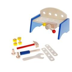 Детский верстак с набором инструментов, 9 предметов