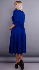 Кора. Элегантное платье плюс сайз. Электрик.