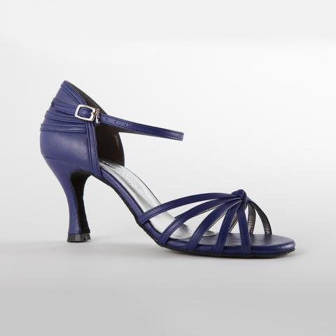 Синие кожаные туфли для танцев арт.S714blue7