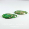 Подвеска Яшма Императорская (прессов.,тониров) Капля, цвет - зеленый, 40х24 мм
