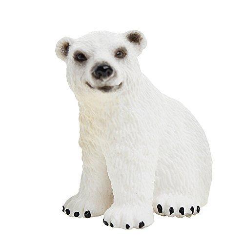 Фигурка белого медвежонка