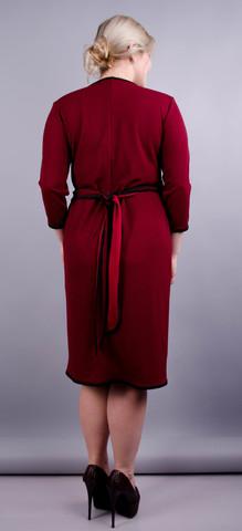 Натэлла. Оригинальное платье больших размеров. Бордо.