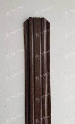 Евроштакетник металлический 85 мм Мореный дуб П - образный 0.5 мм