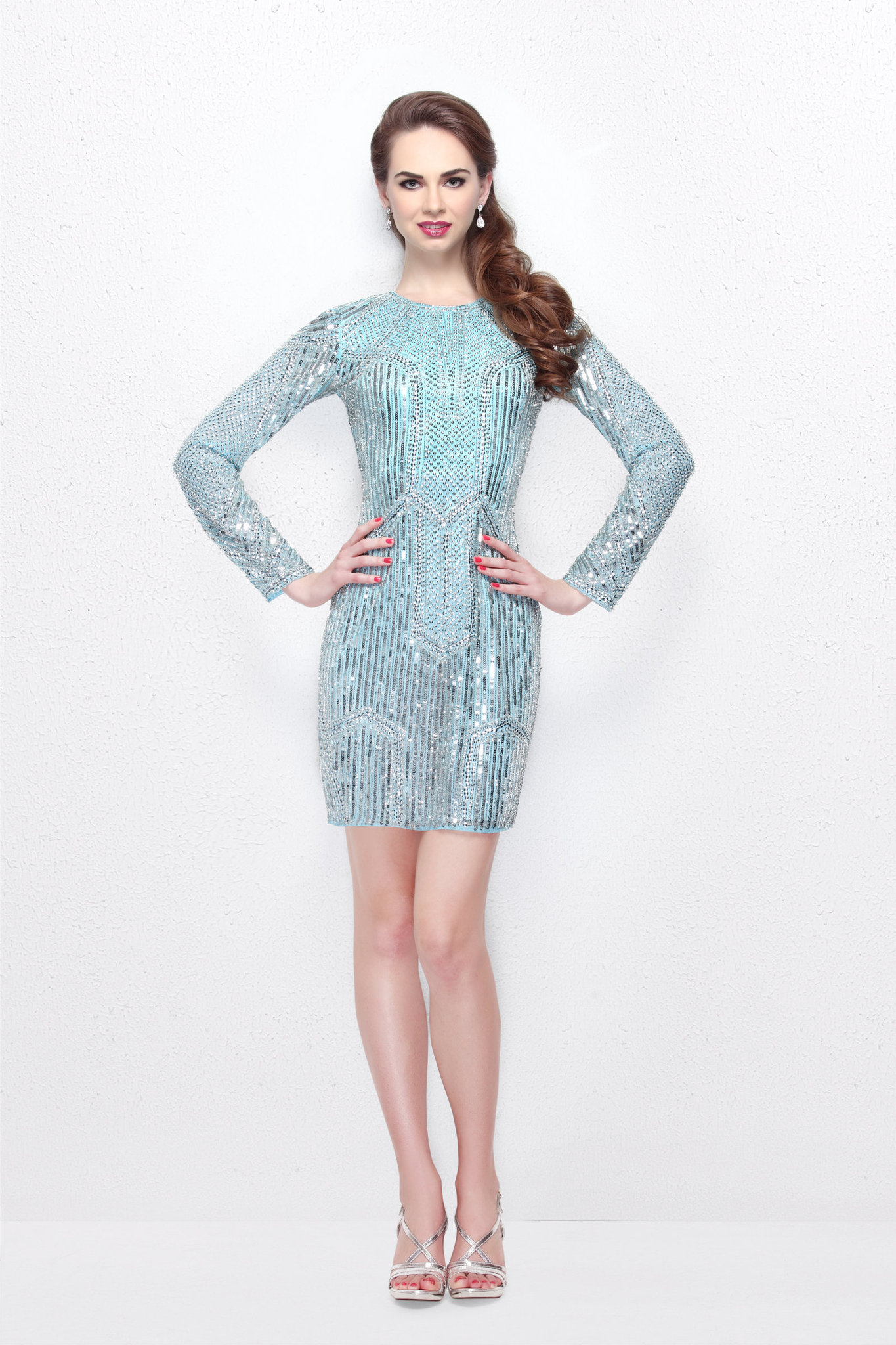 Короткое платье Afina 16529