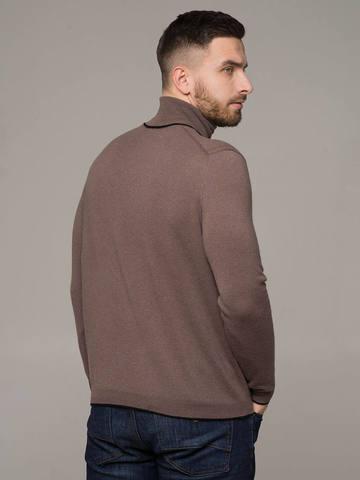 Мужской джемпер серо-коричневого цвета из 100% кашемира - фото 2