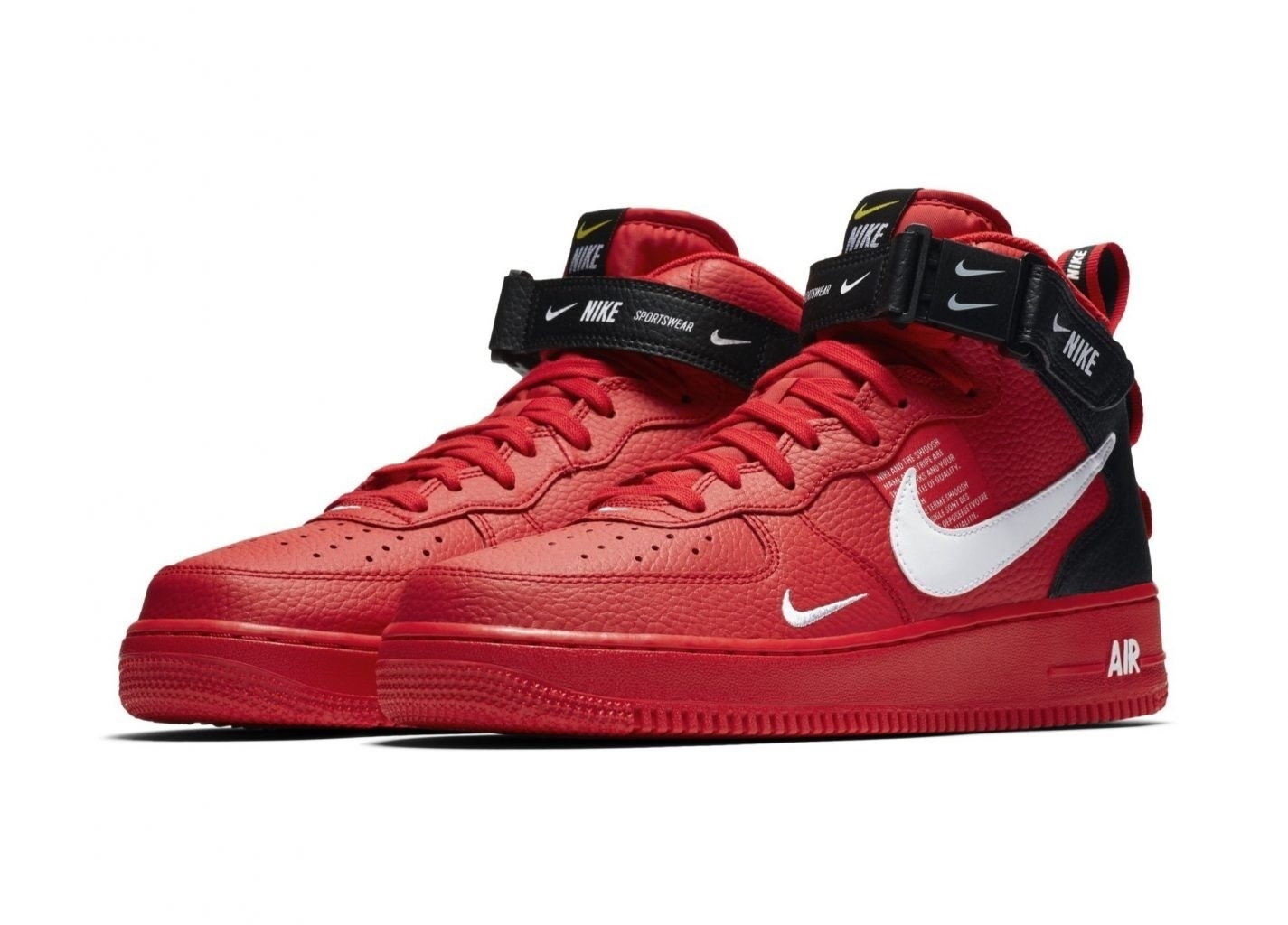 Nike Air Force 1 '07 Mid Utility High Red/Black (065)