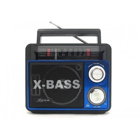 Радиоприемник SW-023UT + фонарь, MP3/FM/MicroSD/USB, встроенный аккумулятор, (2xR20)