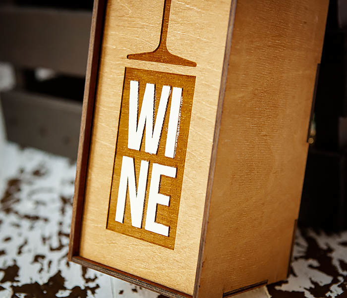 BOX242 Деревянная коробка для вина с раскрасом (33*10*10,5 см) фото 04