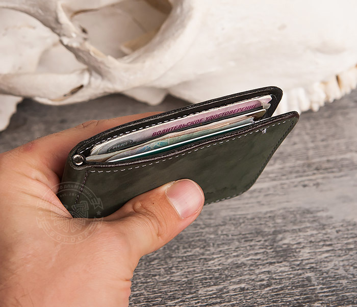 WB108-4 Яркий кошелек ручной работы с зажимом для денег. «Boroda Design» фото 07