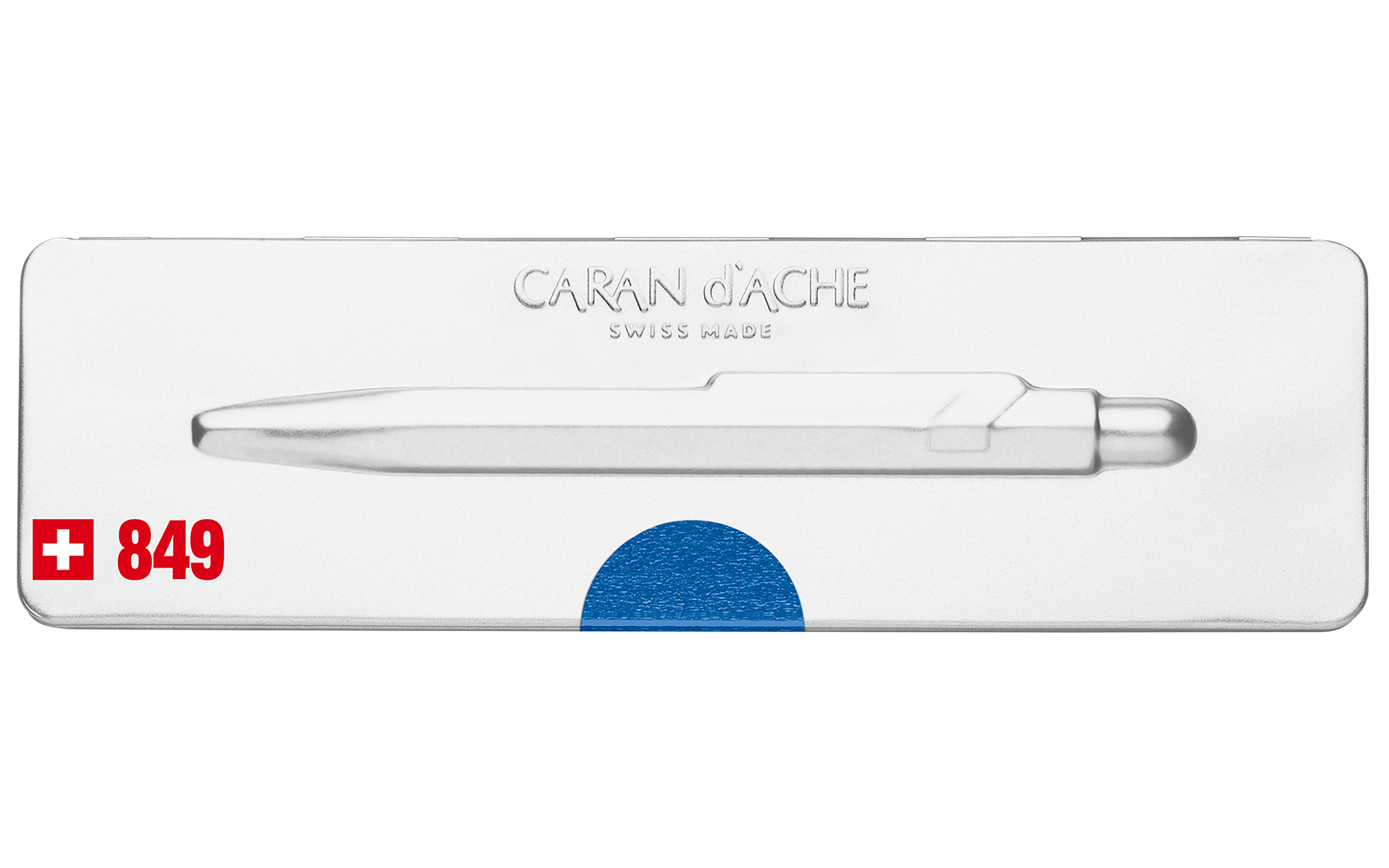 Carandache Office 849 Pop Line - Metallic Blue, шариковая ручка, M
