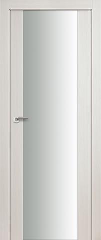 > Экошпон Profil Doors №8X-Модерн, стекло триплекс белое, цвет эш вайт мелинга, остекленная