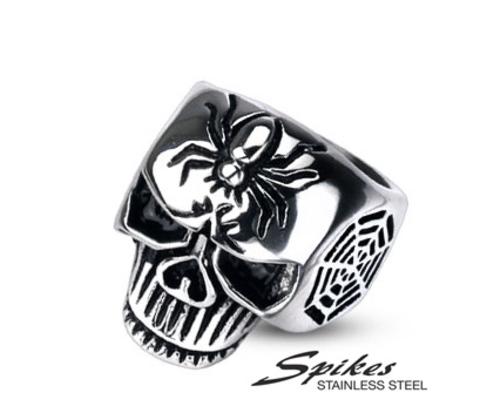 Мужское кольцо «Череп» из стали («Spikes»)