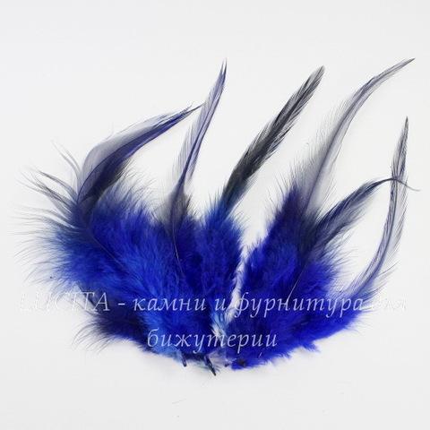 Перья декоративные (цвет - темно-синий) 11-15 см , 5гр