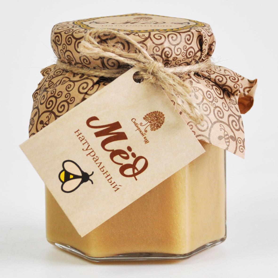 Мёд  разнотравье натуральный Сибирский Кедр 220 гр