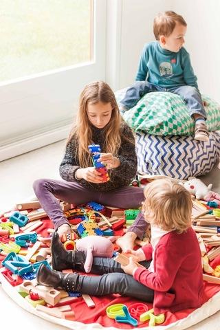 Мешок для игрушек Play&Go Print СИНИЙ ЗИГЗАГ 79961
