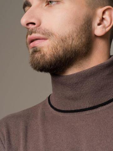 Мужской джемпер серо-коричневого цвета из 100% кашемира - фото 4