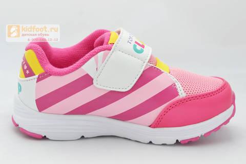 Светящиеся кроссовки Пони (My Little Pony) на липучке для девочек, цвет розовый. Изображение 2 из 8.