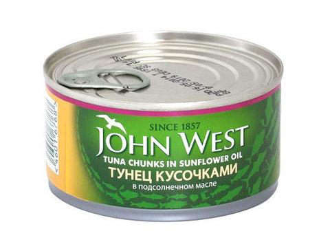 Тунец кусочками в масле John West, 185г