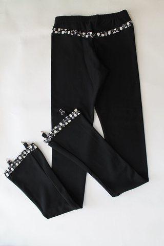 Термокомплект, рост 122 (черный, с цветочными вставками