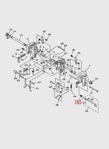 Пружина штока угла дифферента  для лодочного мотора T15, OTH 9,9 SEA-PRO (13-23)