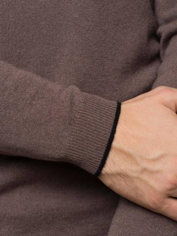Мужской джемпер серо-коричневого цвета из 100% кашемира - фото 3