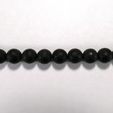 Бусина из оникса черного матового, фигурная, 10 мм (шар, граненая)