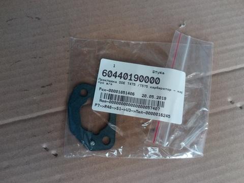 Прокладка DDE T475 /T575 карбюратор - корпус в/ф