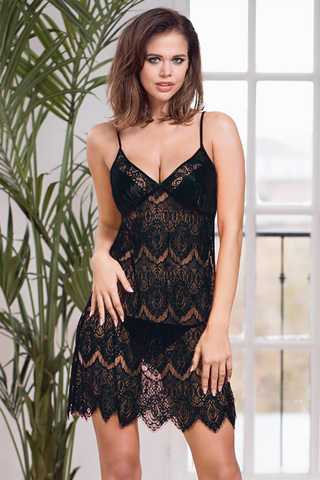 Сорочка Laguna Deluxe 2130 Black Mia-Amore