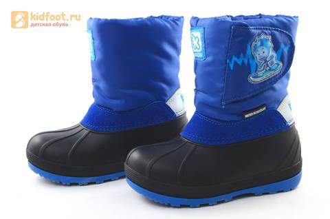 Зимние сапоги для мальчиков непромокаемые с резиновой галошей Фиксики, цвет синий, Water Resistant. Изображение 9 из 17.