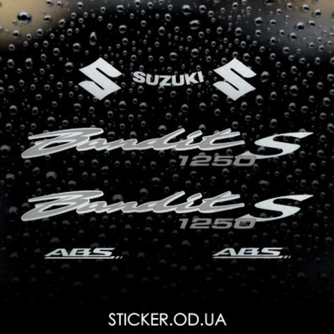 Набор виниловых наклеек на мотоцикл SUZUKI BANDIT 1250S, 2008