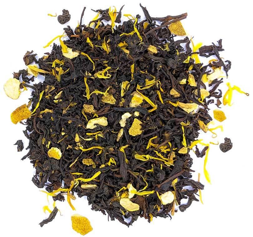 """Ароматизированный фруктовый, ягодный чай """"Апельсин с имбирем"""" черный чай с фруктами, травами и пряностями 100 гр imbirniy-teastar.jpg"""