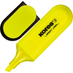 Маркер выделитель текста KORES желтый 1-5мм ?36101