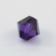 5328 Бусина - биконус Сваровски Purple Velvet 3 мм, 10 штук