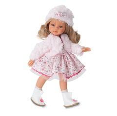 Munecas Antonio Juan Кукла Эмили, зимний образ, блондинка, 33 см (2582Bl)