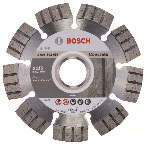 Алмазный диск Best for Concrete 115-22,23 Bosch 2608602651