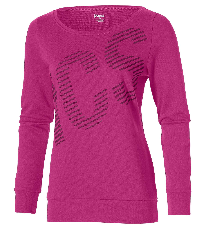 Женская толстовка Asics Graphic Crew (126296 6020) розовая