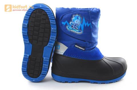Зимние сапоги для мальчиков непромокаемые с резиновой галошей Фиксики, цвет синий, Water Resistant. Изображение 10 из 17.